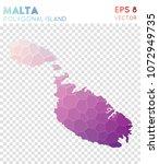 malta polygonal  mosaic style... | Shutterstock .eps vector #1072949735