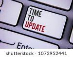 writing note showing  time to... | Shutterstock . vector #1072952441