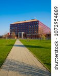 Small photo of BUDAPEST, HUNGARY - MAY 25, 2017: Faculty of science in Lagymanyos campus of the ELTE university. Eotvos Lorand University (ELTE) is the largest and oldest university in Hungary.