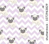 vector seamless pattern with... | Shutterstock .eps vector #1072963829