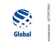 abstract globe logo. vector... | Shutterstock .eps vector #1072972961