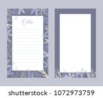 cute vector notes templates.... | Shutterstock .eps vector #1072973759