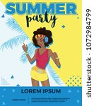 summer party bright vector... | Shutterstock .eps vector #1072984799