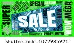 sale  word cloud. promotion... | Shutterstock . vector #1072985921