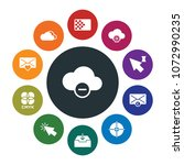 cloud and networking  cursors ...   Shutterstock .eps vector #1072990235