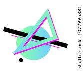 colorful geometric avant garde... | Shutterstock .eps vector #1072995881