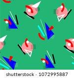 colorful geometric avant garde... | Shutterstock .eps vector #1072995887