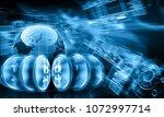 digital currency bitcoin ... | Shutterstock . vector #1072997714