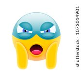 angry face screaming superhero... | Shutterstock .eps vector #1073014901