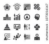skill ability icon set | Shutterstock .eps vector #1073016167