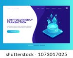homepage. design template for... | Shutterstock .eps vector #1073017025