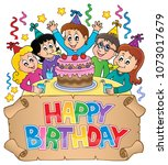 happy birthday thematics image... | Shutterstock .eps vector #1073017679