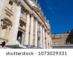 vatican  italy   september 6 ... | Shutterstock . vector #1073029331