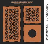 diy laser cutting vector scheme ... | Shutterstock .eps vector #1073030099
