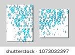 light blue vector brochure for... | Shutterstock .eps vector #1073032397