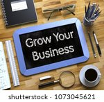 grow your business   text on... | Shutterstock . vector #1073045621