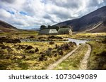 scottish landscape in... | Shutterstock . vector #1073049089