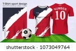 soccer jersey and t shirt sport ... | Shutterstock .eps vector #1073049764