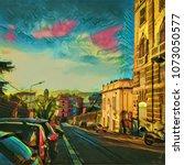 Colorful Italian Cityscape. Big ...