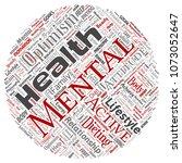 vector conceptual mental health ...   Shutterstock .eps vector #1073052647