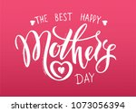 happy mother's day layout... | Shutterstock .eps vector #1073056394