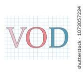 vod  video on demand  acronym... | Shutterstock .eps vector #1073057234