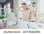 indoors routine panic unlucky... | Shutterstock . vector #1073066081