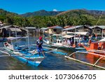 coron palawan philippines april ...   Shutterstock . vector #1073066705