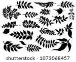 hand sketched vector vintage...   Shutterstock .eps vector #1073068457