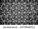 modern style ceiling decoration ... | Shutterstock . vector #1073068511