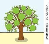 family tree   frames empty for... | Shutterstock .eps vector #107307014