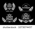collection of different black...   Shutterstock .eps vector #1073074457