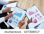 image of business documents in... | Shutterstock . vector #107308517