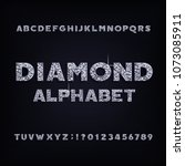 diamond crystal alphabet bold... | Shutterstock .eps vector #1073085911