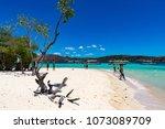 coron palawan philippines april ...   Shutterstock . vector #1073089709