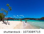 coron palawan philippines april ...   Shutterstock . vector #1073089715