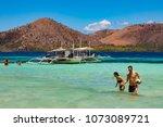 coron palawan philippines april ...   Shutterstock . vector #1073089721