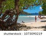 coron palawan philippines april ...   Shutterstock . vector #1073090219