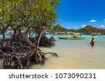 coron palawan philippines april ...   Shutterstock . vector #1073090231