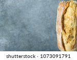 freshly baked hand crafted... | Shutterstock . vector #1073091791