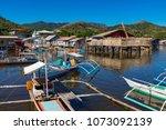 coron palawan philippines april ...   Shutterstock . vector #1073092139