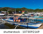 coron palawan philippines april ...   Shutterstock . vector #1073092169