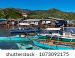 coron palawan philippines april ...   Shutterstock . vector #1073092175