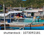 coron palawan philippines april ...   Shutterstock . vector #1073092181