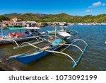 coron palawan philippines april ...   Shutterstock . vector #1073092199