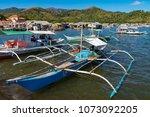 coron palawan philippines april ...   Shutterstock . vector #1073092205