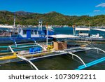 coron palawan philippines april ...   Shutterstock . vector #1073092211