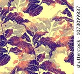 imprints coffee tree  mix... | Shutterstock . vector #1073099837