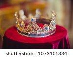 Gold Precious Crown For Wedding....