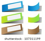 set of blank rectangle labels... | Shutterstock .eps vector #107311199